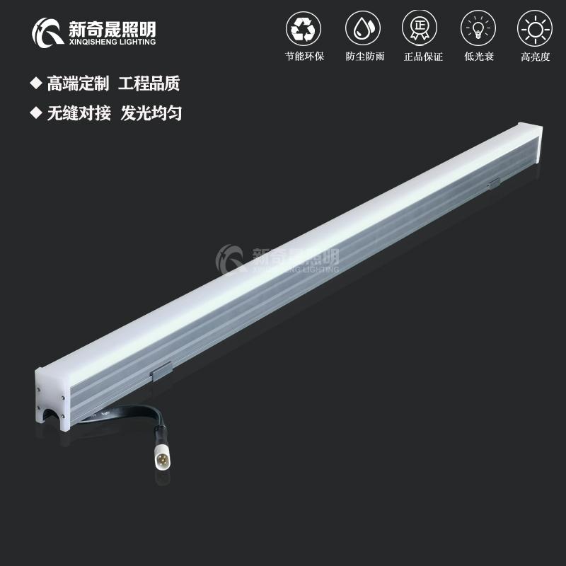 RGBW线条灯非常适用于楼体亮化工程