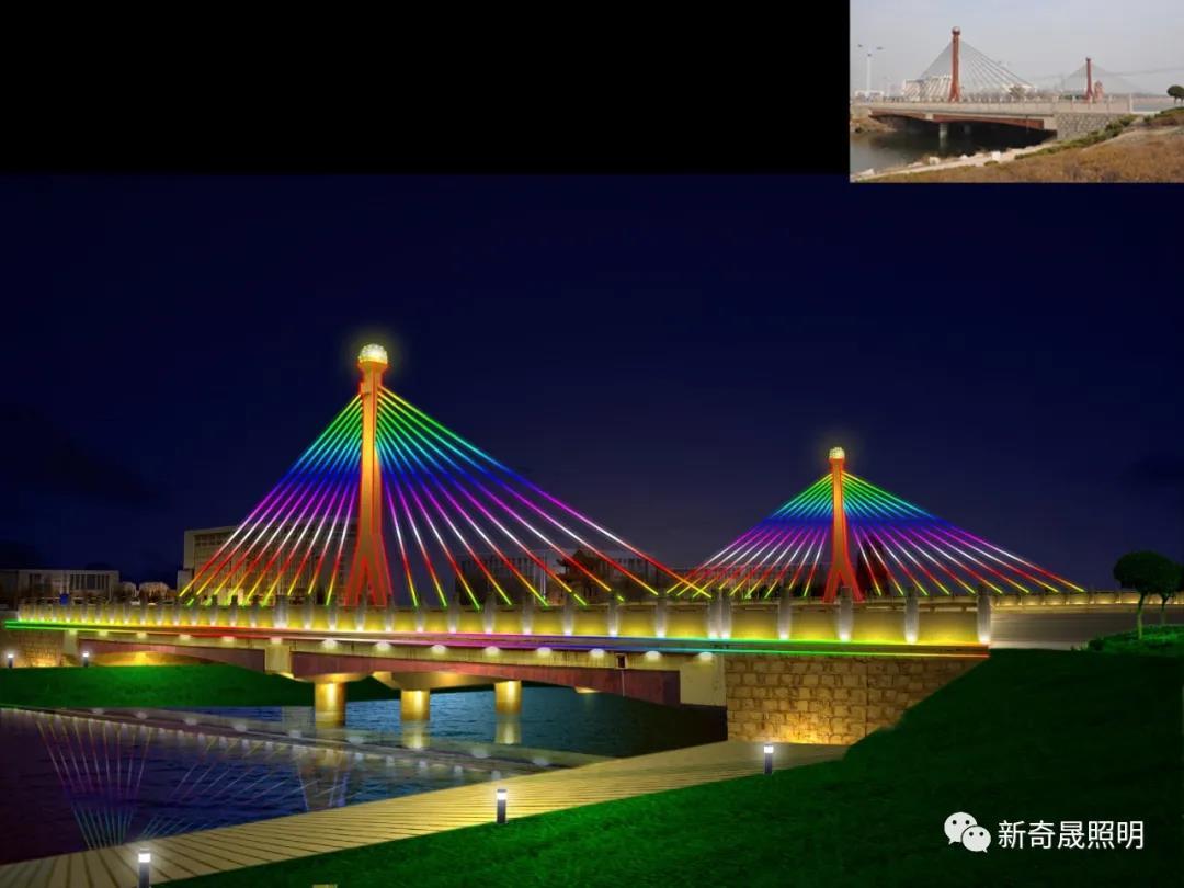 桥梁亮化,让桥梁变成一道靓丽的风景线