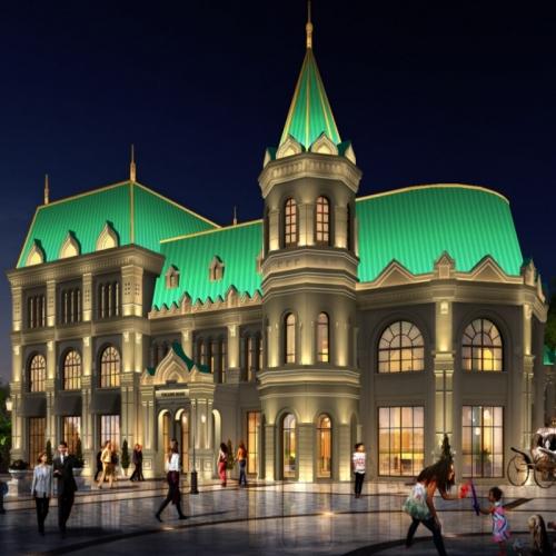 仿俄罗斯建筑亮化,融入东欧风情,感受异国的别样灯光魅力